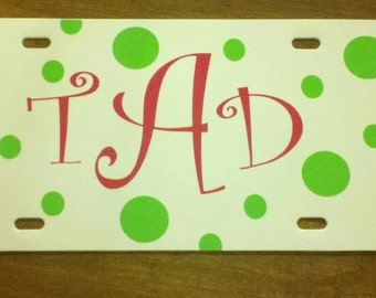 Personalized Polka Dot License Plate