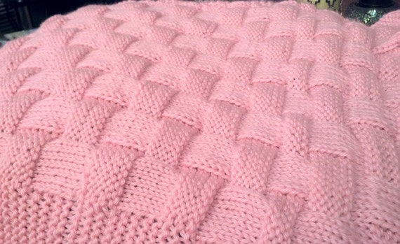 natt r aliste motif tricot couverture de b b ou tricoter. Black Bedroom Furniture Sets. Home Design Ideas