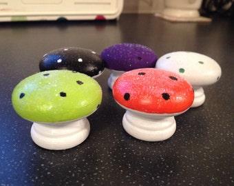 Miniature glow in the dark toadstools