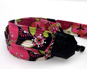 DSLR Camera Strap, Padded Camera strap, Pink, Nikon Camera Strap, Canon Camera Strap, Graduation Gift, Wedding Gift, Travel