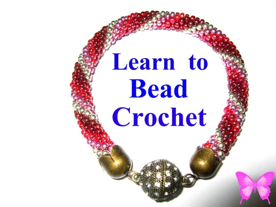 Beginners Learn Bead Crochet Tutorial Bracelet Pattern Pdf