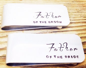 Father of the Groom Gift | Father of the Bride Gift | Mens Money Clip | Wedding Gifts for Men | Father in Law Gifts by Glam and Co (W217)