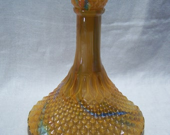 ON SALE !! Italian Slag Glass Decanter
