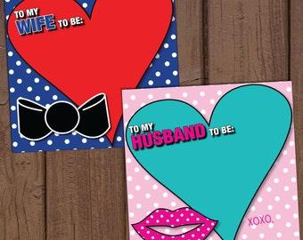 Set of Pop Art Coordinating Pre-Wedding Note Stationary