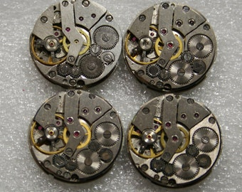 "1"" , Set of 20   Vintage Soviet Watch movements , steampunk parts"