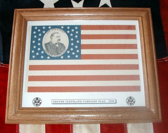 38 star Flag, President Grover Cleveland Campaign Flag of 1888