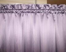 """84"""" Purple Rod Pocket Curtains/Window Treatments/Draperies 80's Vintage"""