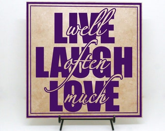 Live laugh love sign etsy for Love sign