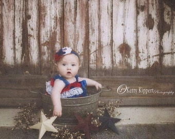 4th of July romper - patriotic romper - red white and blue lace romper