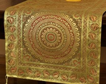 Exotic Oriental Table Runner (Dark Gold)