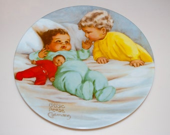 """Bessie Pease Gutmann Plate Dish """"My Baby"""" Curator Collection 1985 Doll"""