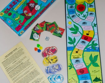 Sleeping Grump Board Game 1981 A Co-Operative Game by Family Pastimes