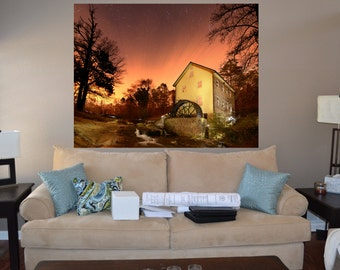Water Wheel Removable Wall Mural