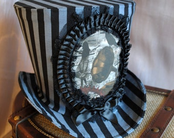 Steampunk Circus Top Hat,WOMEN's Striped Top Hat - Made to Order