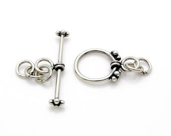1 Set, 12mm, Sterling Silver Toggle