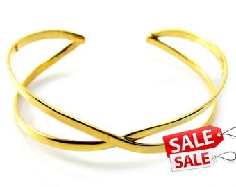 Simple Gold Cuff Bracelet Simple Gold Bracelet Cuff Simple Gold Brass Cuff Bracelet Simple Gold Brass Bracelet Cuff 089