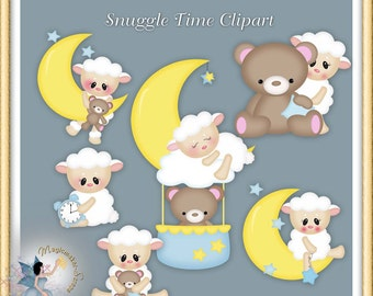 Snuggle Time Baby Clipart