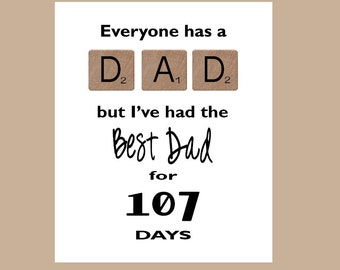 Father's Day Card, Best Dad Card , New Dad Card,  1st Father's Day Card, Dad Birthday Card, Father's Day Card, Scrabble Card