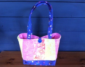 REDUCED! Diaper Bag or Purse - Tie Dye, Pink, Orange, Yellow and Blue