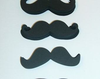 """100 Mustache Die Cut 3.5"""" in length Mustaches Cut Outs (3001M)"""