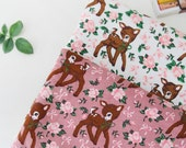 French Baby Terry Knit Fabric Bambie Reindeer By The Yard