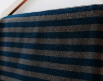 Fleece Fabric Stripe Turquoise By The Yard