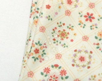 Laminated Cotton Fabric with Floral Plaid By The Yard