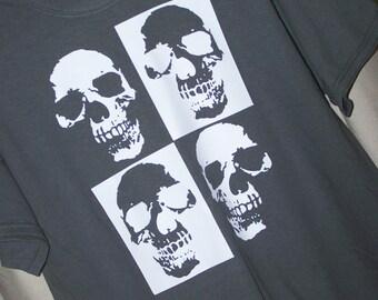 SKULL TSHIRT Skull Checkerboard Gothic Shirt