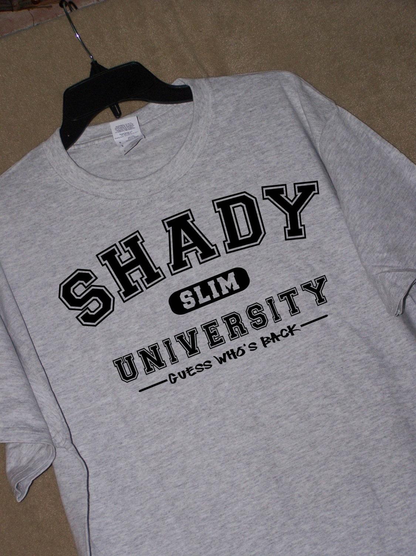 Eminem Fans Shady University T Shirt