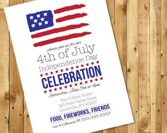 Simple Fourth of July, Independence Day Celebration/Party Invitation
