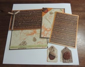 Fall scrapbook mat & tag set