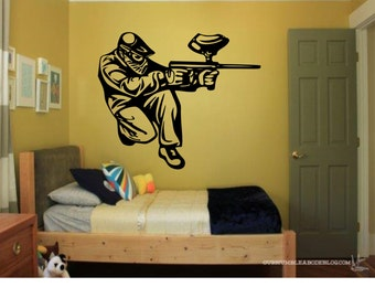 Paintball Wall Decal- Paintball, Paintballing, Paintball Decal