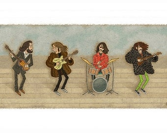 "The Beatles Rooftop Concert - 18""x10"" print"
