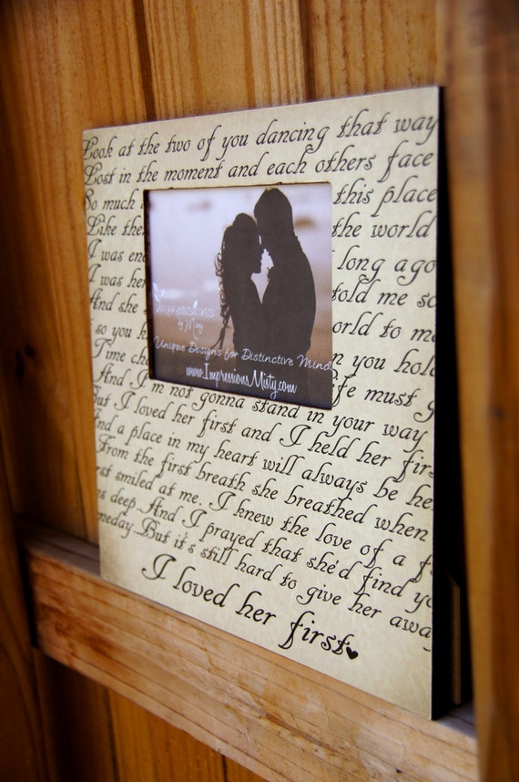 ANY Song Lyrics Picture Frame Personalized Gift Custom