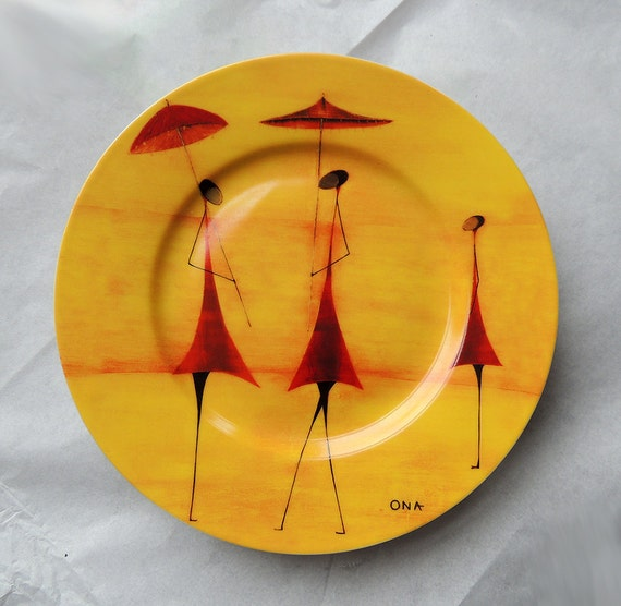 Porcelain Plate Ants With Parasols designed by THIERRY ONA