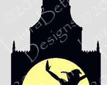 Peter Pan Digital Design - Minimalist Art - Embroidery Designs INSTANT DOWNLOAD ~ 4x4, 5x7 and 6x10 Sizes
