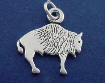 BUFFALO, Bison Charm .925 Sterling Silver