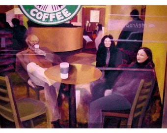 Starbucks New York Postcard from an Original Painting