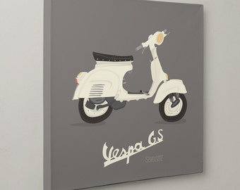 TABLE ART * Vintage illustration of a Vespa by SEVEUSMZ. Table 20x20 cm or 40x40 cm.