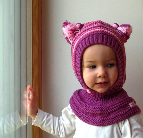 Cappello di passamontagna di lana merino baby bambini - Fatti di gargoyle per bambini ...
