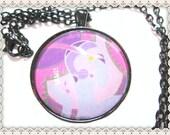 Art Deco Pendant~Art Deco Necklace~Purple Art Deco Pendant Necklace~Flapper Pendant~Roarin' 20's Pendant Necklace~Women's Pendant