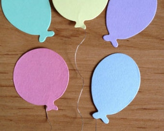 40 Pastel Balloons die cuts for cards toppers cardmaking scrapbooking craft