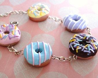Pastel coloured Donut- Bracelet