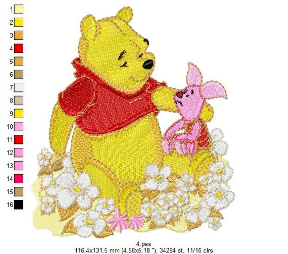 Winnie The Pooh Large Scenes Embroidery Designs PES, hus, dst, jef, vip, vp3, exp, xxx, shv Format INSTANT DOWNLOAD 20 Designs