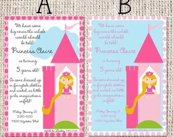 "Princess Party Invitation 8.5"" x 5.5"""