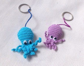 """Keychain """"Octopus"""", made by crochet"""