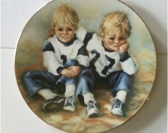 Vintage Collector Plate 1979 Football Brothers