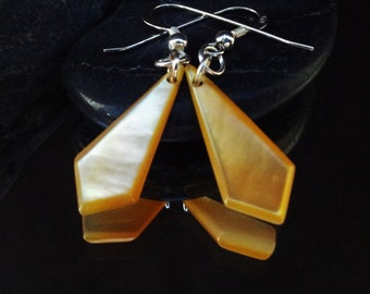 Shell earrings with sterling silver e002,free shipping