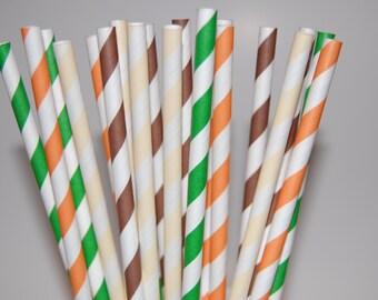 Safari Paper Straw Assortment - 20/Pack