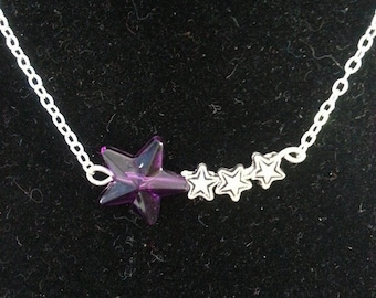 shooting star beaded necklace